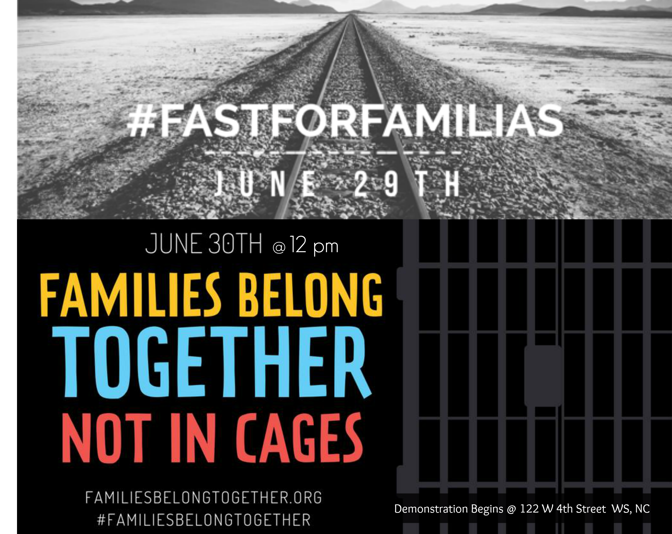 Combined Flyers fasting for families & families belong together